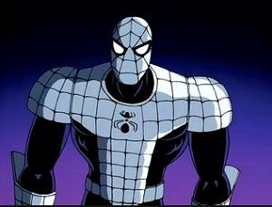 marvel super hero armored spiderman