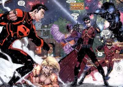 new 52 teen titans comic island
