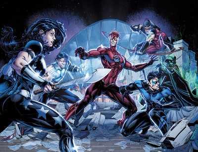 DC Rebirth Titans comic island