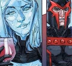 Inhumans vs X-Men #0. emma frost magneto