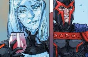 Inhumans vs X-Men #0. emma frost magneto