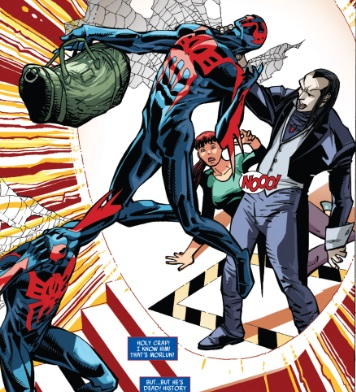 new comics spiderman 2099 #5 edge of spiderverse tie in