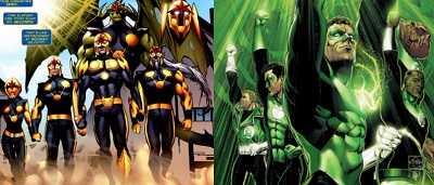 green lantern corps nova corps copy cat