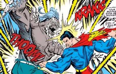 comic island doomsday vs superman