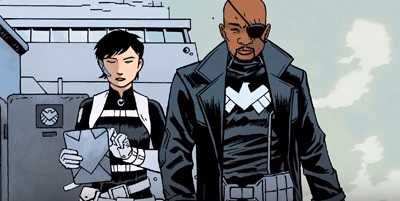 civil war nick fury maria hill
