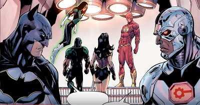 Justice League #2 Extinction Machine Part 2 cyborg batman